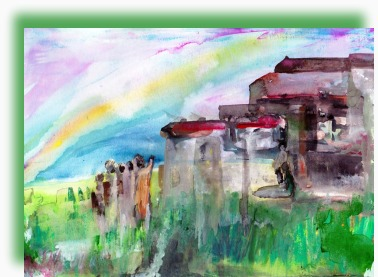 Mdantsane Rainbow, watercolor -Amitabh Mitra